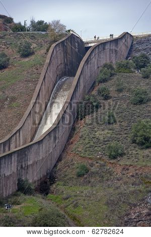 Spillway of the dam of the Yeguas, Spain