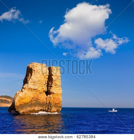 Javea Xabia Piedra la Nao in Mediterranean Alicante at Spain