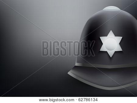 helmet of British police background
