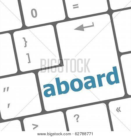 Aboard Key On The Computer Keyboard