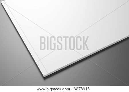 Blank Catalog / Brochure On Dark Background