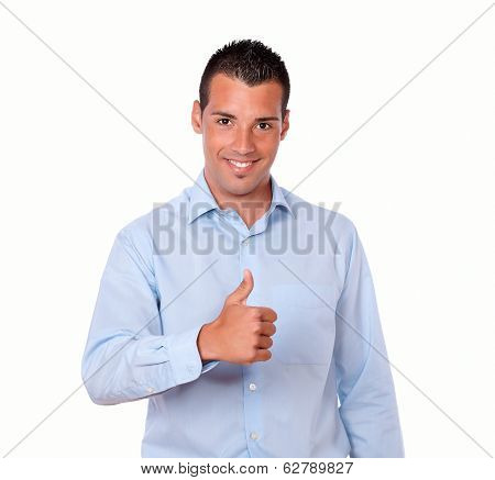 Handsome Young Guy With Ok Sign