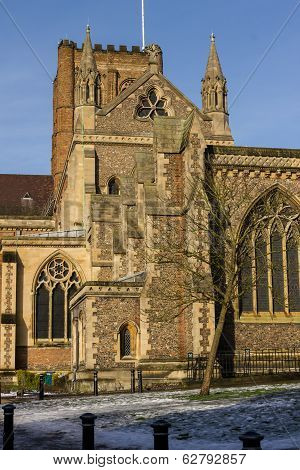 Cathedral And Abbey Church In St.albans, Uk