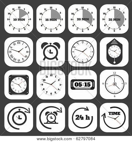 Black Clocks Icon