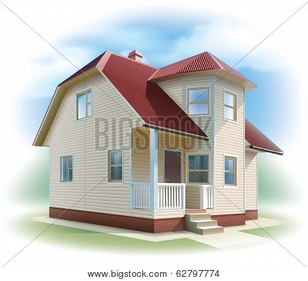 House with siding trim