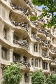 Architecture detail of Casa Mila or La Pedrera