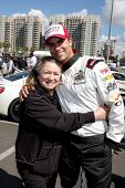 LOS ANGELES - APR 1:  Rita Tateel, Colin Egglesfield at the Toyota Grand Prix of Long Beach Pro/Cele