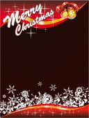 picture of merry christmas  - Merry Christmas Card with space for text with High Contrast Colours - JPG
