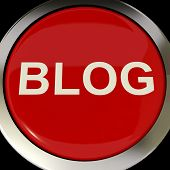 Blog Button Shows Blogging Or Weblog Websites