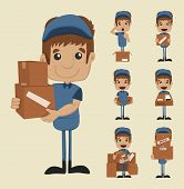 Постер, плакат: Set Of Postman