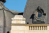 foto of neo-classic  - Neo Classical Roof Architecture Detail Close Up - JPG