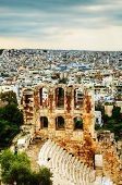 foto of akropolis  - The Odeon of Herodes Atticus view in Athens Greece - JPG