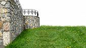 Background with castle and grass