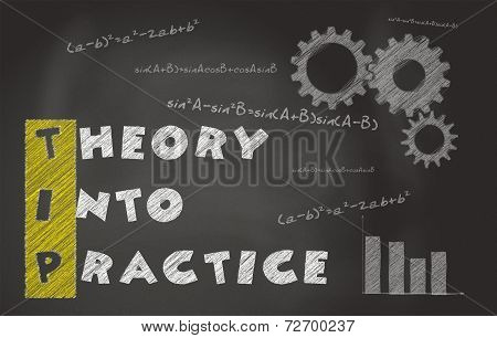 Illustration Of Acronym Of TIP Over Black Chalkboard