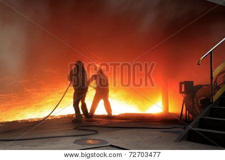 Steelmaking workshop