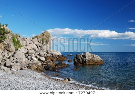 Stony Shore Of The Black Sea
