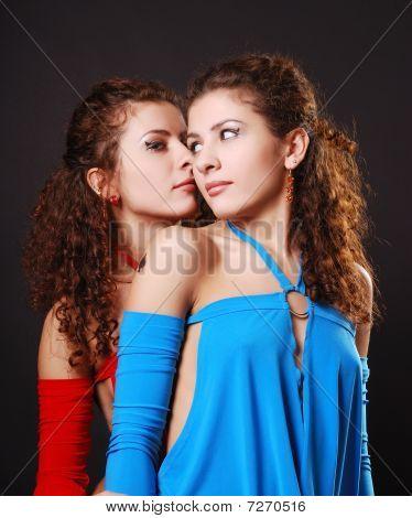 Pretty Twins Whispering
