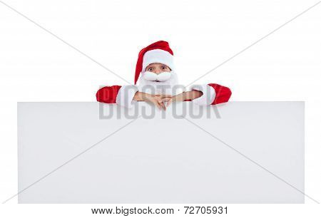 Funny Santa With Large Banner