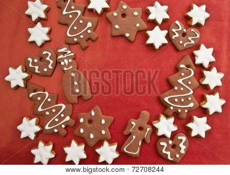Ginger Bread On Red