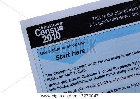 2010 Censo forma close-up