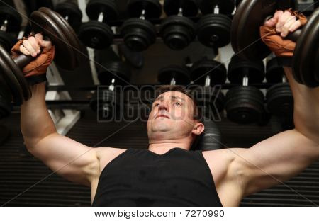 Training Dumbbells Gym Pecks