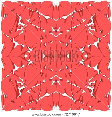 Bright pinky red abstract art background. Illustration made in vector.