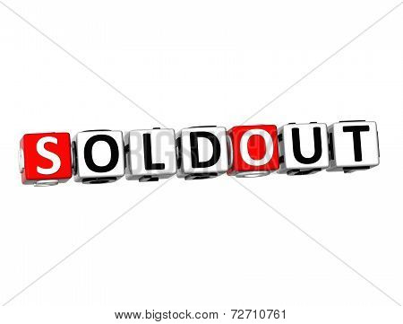 3D Word Sold Out On White Background