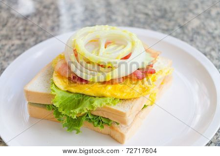 Close up Club Sandwich