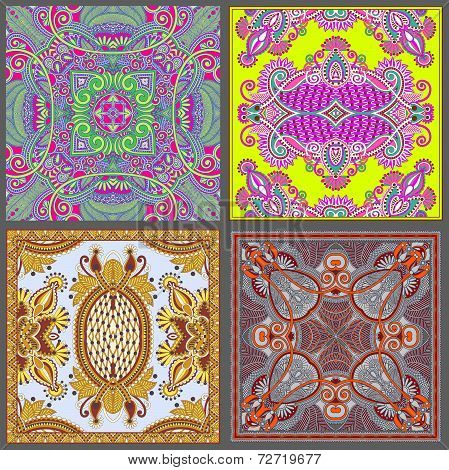 Traditional ornamental floral paisley bandanna collection