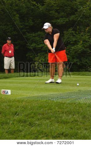 Meredith Duncan At USGA Women's Open Golf Tournament
