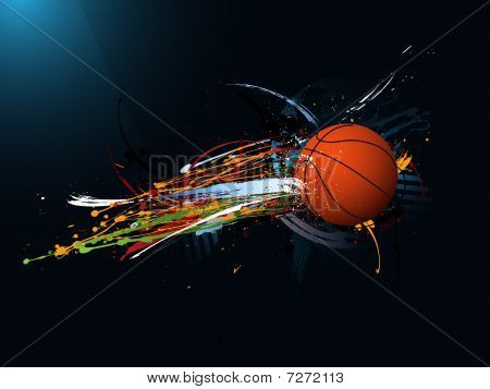 dirty abstract grunge background, Basketball