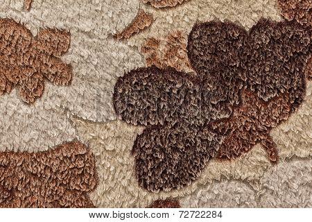 Texture of fur bedspreads