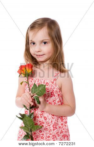 Chica Holding Rose