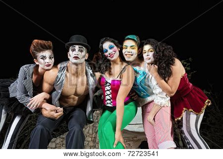Clowns On Stage