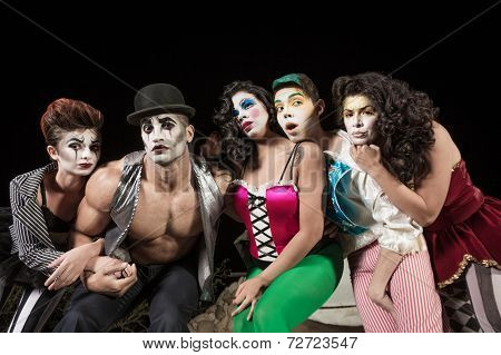 Five Serious Cirque Clowns