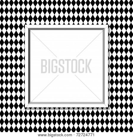 Black And White Diamond Background With Frame