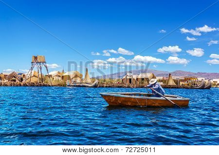 Rowboat On Lake Titicaca