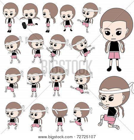 Kickboxer Girl Thai