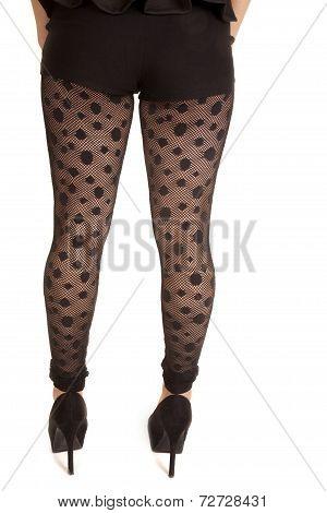 Back View Leggings Polka Dot