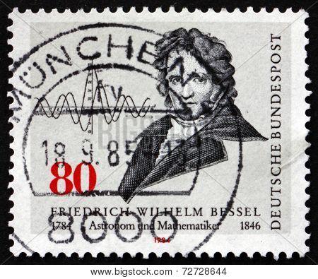 Postage Stamp Germany 1984 Friedrich Wilhelm Bessel, Astronomer