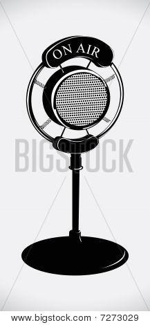 on air! retro microphone