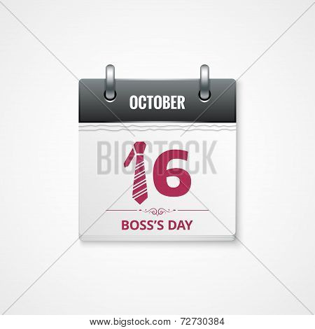 boss day calendar  background