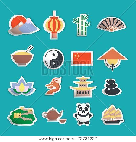 China icons stickers