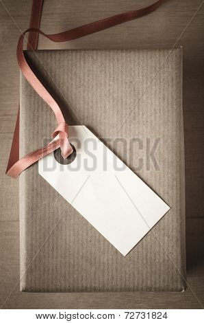 Overhead Gift Box And Label