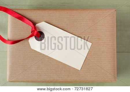 Label On Brown Paper Parcel