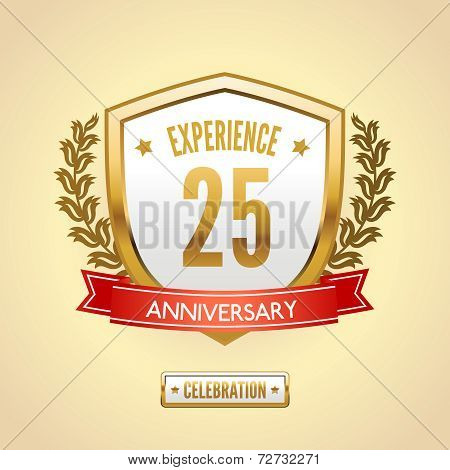 Anniversary label shield