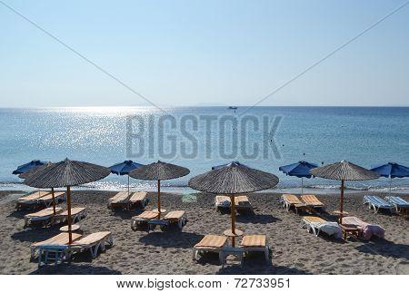Beach On A Greek Island Of Kos.