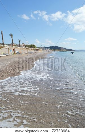 Beach On A Greek Island Of Kos.