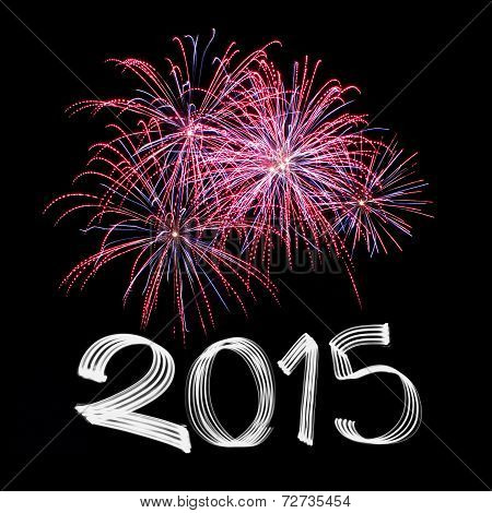New Year's Eve 2015 With Fireworks