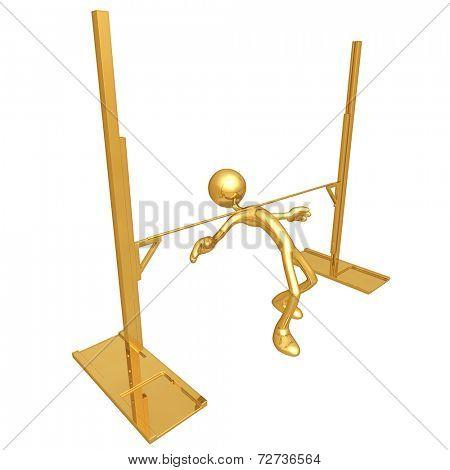 Gold Guy Pole Vault Bar Limbo